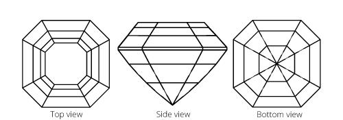 Image showing Asscher diamond cut