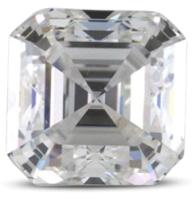 Asscher diamond color E