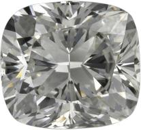 Chunky cut cushion diamond