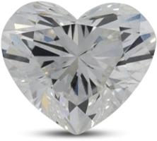 heart shaped diamond with color E