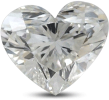 Heart shaped diamond with color G