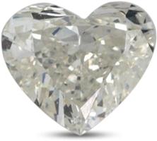 Heart shaped diamond with color I