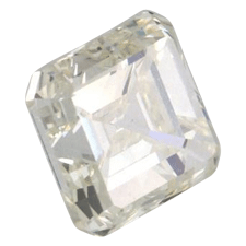Image showing an asscher diamond with yellow colour