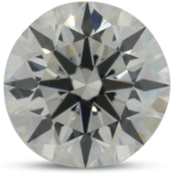 Round brilliant diamond color J