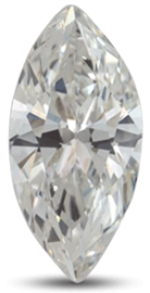 Marquise diamond with G color