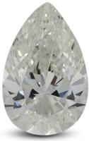 Pear diamond with I color grade