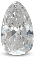pear shaped diamond with square shoulders
