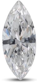 marquise diamond showing poor symmetry