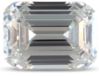 emerald cut diamond with color G