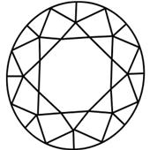 Diamond with off-center girdle