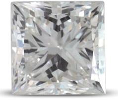 Princess diamond color E