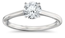 Solitaire platinum engagement ring