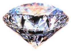 Sparkling round brilliant diamond