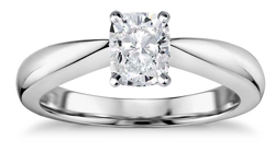radiant cut solitaire diamond engagement ring