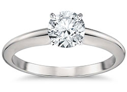 4 prong solitaire round brilliant engagement ring