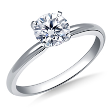 4 prong solitaire diamond engagement ring
