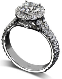 Double pave engagement ring