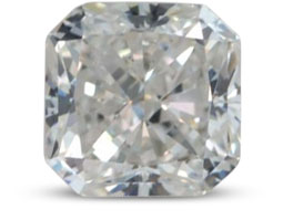 Radiant diamond with H color