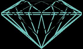 size comparison between a 0.5 carat and a 1 carat diamond