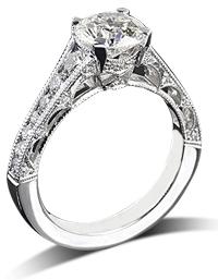 Tacori channel set engagement ring