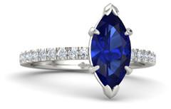 marquise-sapphire-palladium-ring-with-diamond