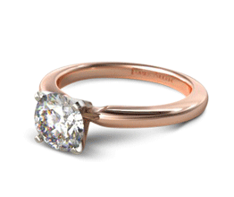 Round 2mm Comfort Fit Solitaire Engagement Ring