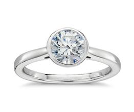 Round Diamond Bezel Set Solitaire Engagement Ring