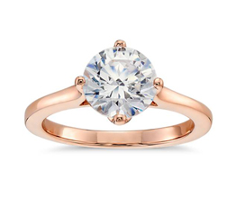 Round Diamond East-West Solitaire Engagement Ring