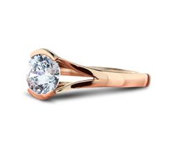 'Lena' Solitaire Diamond Engagement Ring