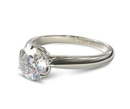Round Modern Tulip Diamond Engagement Ring
