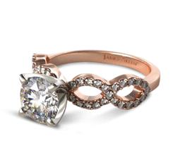 Round Pavé Infinity Diamond Engagement Ring
