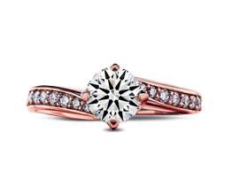 Jennifer Pavé & Side Stones Diamond Engagement Ring