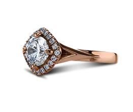 Lauren Pavé & Side Stones Diamond Engagement Ring