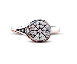'Tessa' Pavé & Side Stones Diamond Engagement Ring