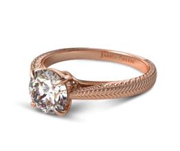 Fluted Basket Diamond Engagement Ring