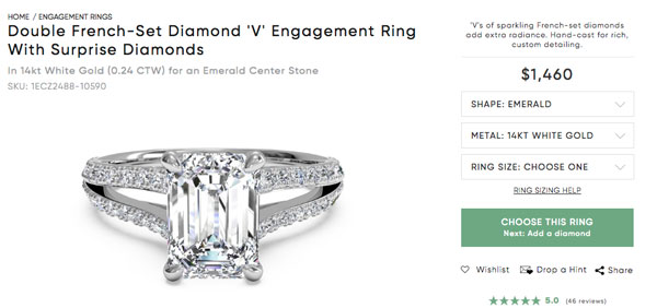 beyonce engagement ring copy