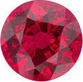 AAA grade round ruby