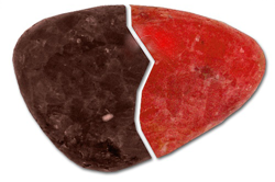 Heated ruby before and after