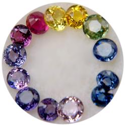 range of sapphire colors