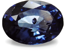 sapphire with inclusion