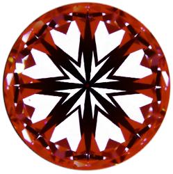 idealscope image of Brian gavin signature hearts and arrows diamond