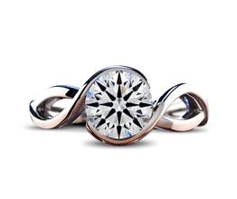 'Flora' Spiral Bezel Diamond Engagement Ring
