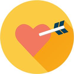 hearts and arrows icon