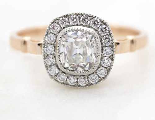 old mine cut engagement ring