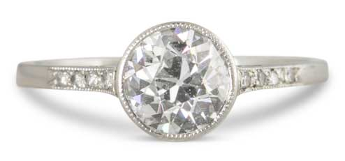 bezel art deco engagement ring