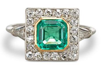Edwardian emerald ring