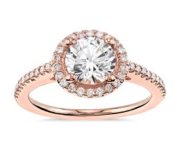 Classic Halo Diamond Engagement Ring