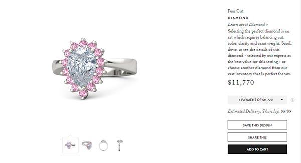 Cardi Bs Pear Cut Diamond Engagement Ring