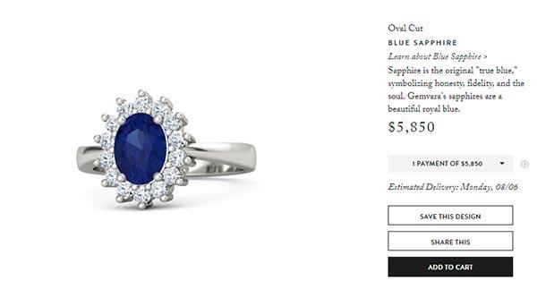 12 Kate Middletons Engagement Ring Gemvara Copy
