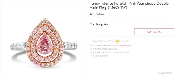 Cardi Bs Purplish Pink Pear Shape Double Halo Engagement Ring Leibish